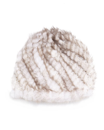 Jocelyn Mink Fur Tails Hat, Sunlight
