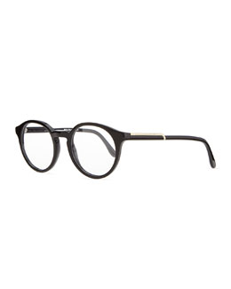 Stella McCartney Round Acetate Fashion Glasses, Black