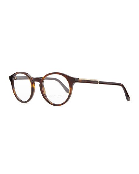 Round Acetate Fashion Glasses, Dark Tortoise