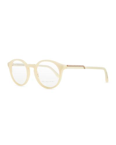 Stella McCartney Round Acetate Fashion Glasses, Cream