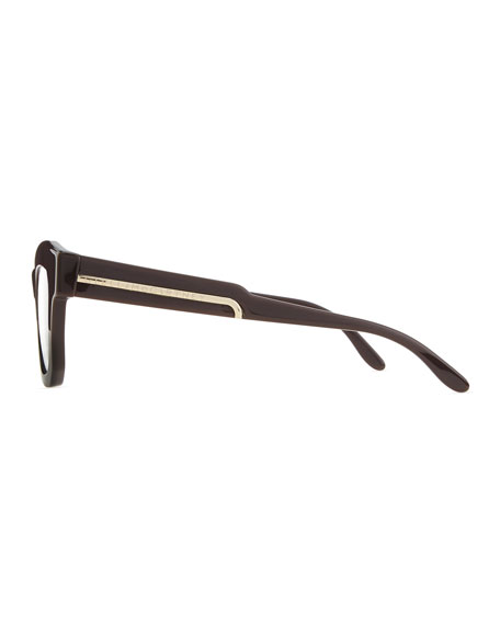 Thick Square Acetate Fashion Glasses, Brown
