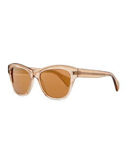 Oliver Peoples Sofee 53 Polarized Sunglasses, Peach