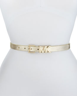 MICHAEL Michael Kors  20mm Saffiano MK Belt