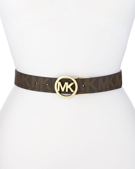 Signature Logo Leather Belt