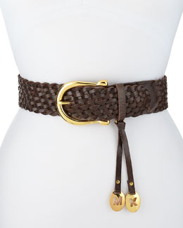 MICHAEL Michael Kors  Braided Horseshoe-Buckle Belt