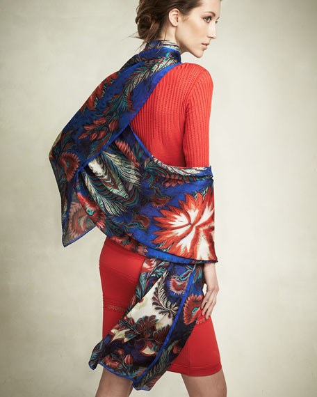 Psychedelic-Print Wrap, Red Pattern