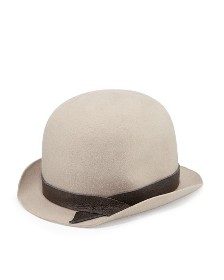 Felted Wool Bowler Hat