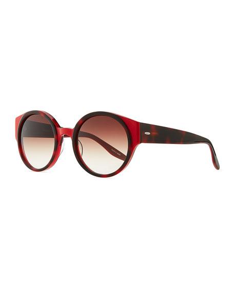 Feldon Round Sunglasses, Tortoise Claret