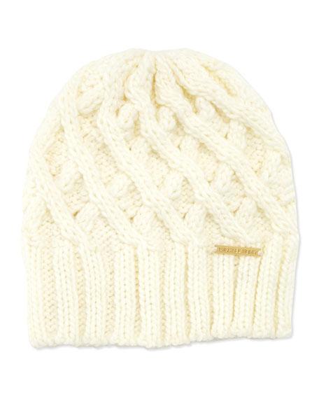 Chunky Knit Skull Hat