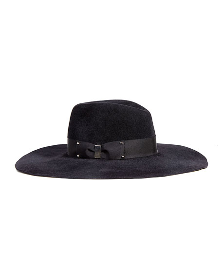 Eugenia Kim Bette Wide-Brim Fall/Winter Fedora, Black