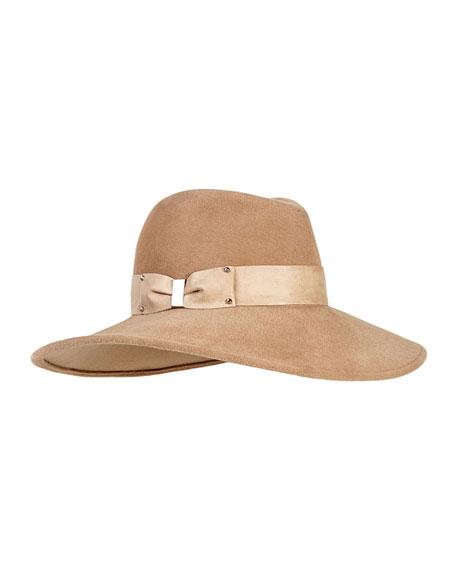 Emmanuelle Floppy Felt Hat, Camel