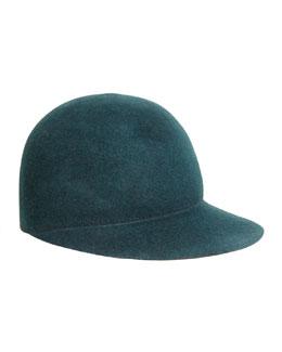 Joey Wool Cap Hat, Forest Green