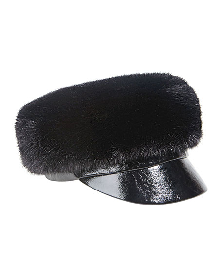 Therese Faux-Fur Army Hat
