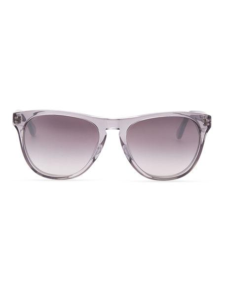 Daddy B Clear Plastic Square Sunglasses, Gray