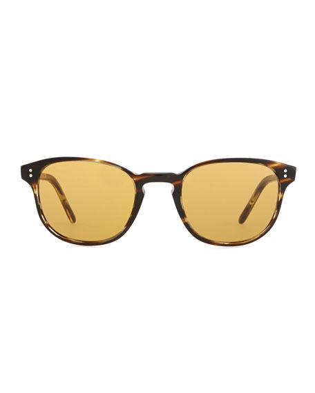 Fairmount Sun Plastic Square Sunglasses, Light Brown Tortoise