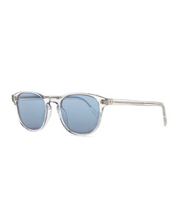 Oliver Peoples Plastic Square Sunglasses, Clear/Blue
