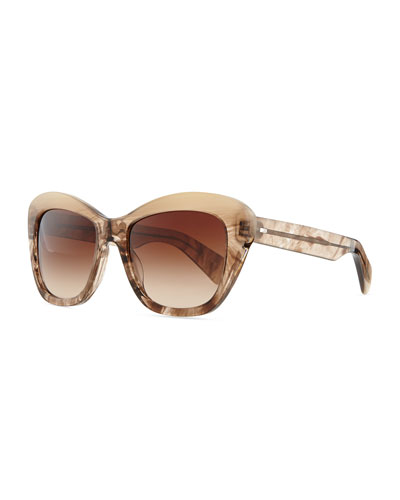 Oliver Peoples Marbled Square Sunglasses, Gray
