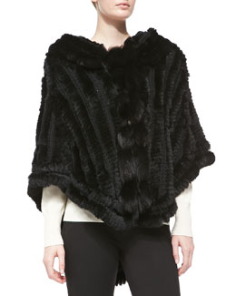 La Fiorentina Collared Rabbit Fur Cape