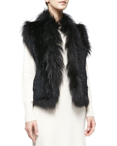 Belle Fare Rabbit and Fox Fur Vest