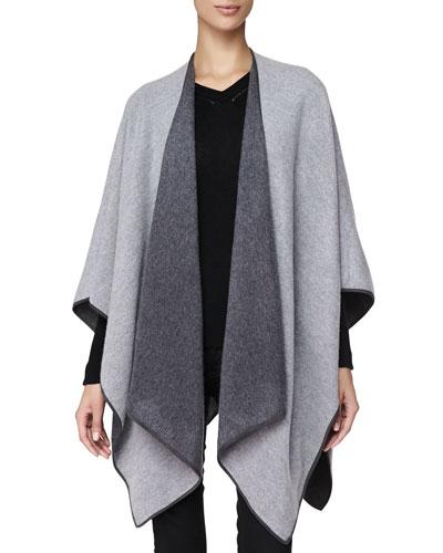 Burberry Cashmere Long Wrap, Pale Grey