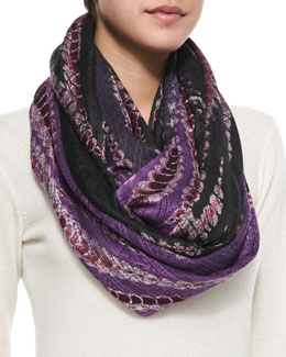 Michael Stars Tied-Over Tapestry Eternity Scarf, Gypsy