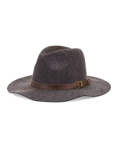 Michael Stars Oh My Darling Wide Brim Hat, Heather Smoke