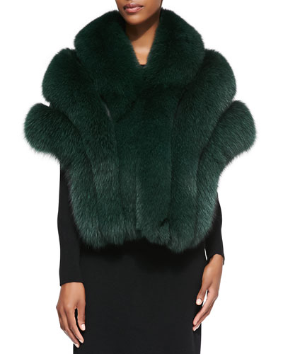 Gorski Leather/Fox Fur Stole