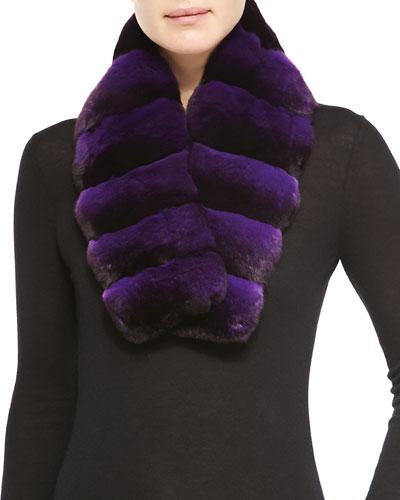 Gorski Chinchilla Fur Scarf, Light Purple