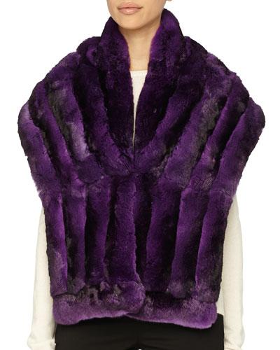 Gorski Chinchilla Fur Shawl, Light Purple