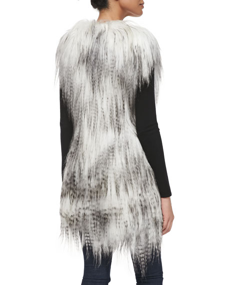 Long Goat Fur Vest