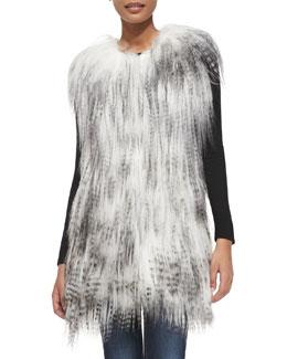 Adrienne Landau Long Goat Fur Vest