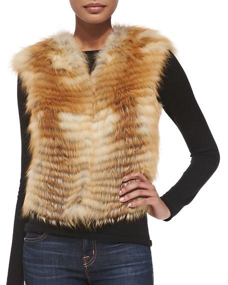 Let Out Fox Fur Vest