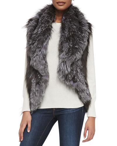 Adrienne Landau Fox Fur Vest
