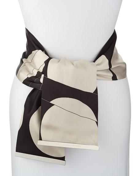 Folded Dot Jacquard Sash Belt