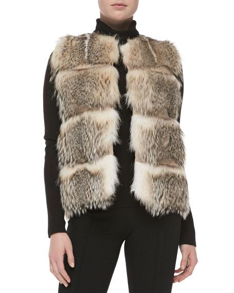 Striped Badger Fur Vest
