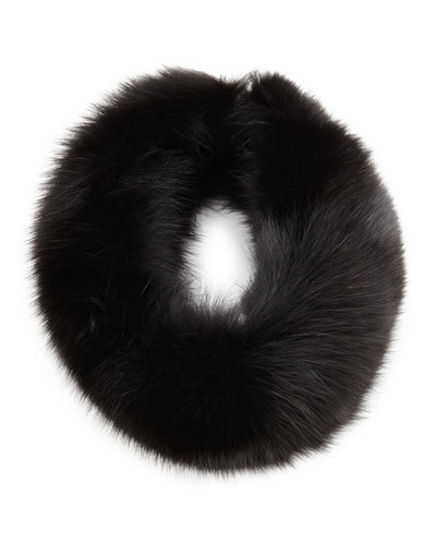 Sofia Cashmere Fox Fur Headband, Black