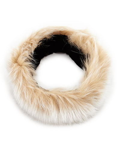 Sofia Cashmere Fox Fur Headband, Blonde