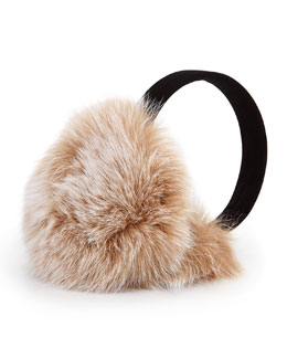 Sofia Cashmere Fox Fur Earmuffs, Blonde