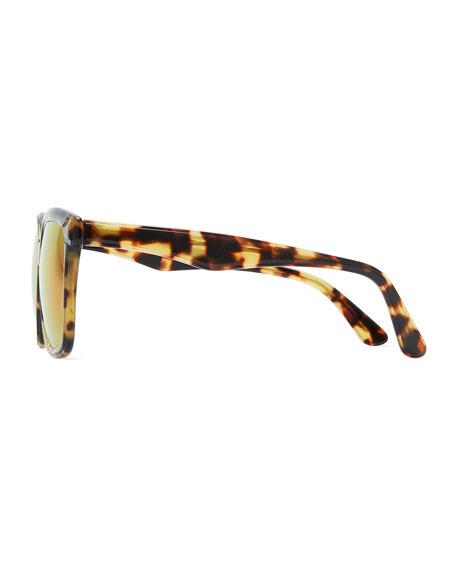 Felix Sunglasses with Mirrored Lens, Tortoise
