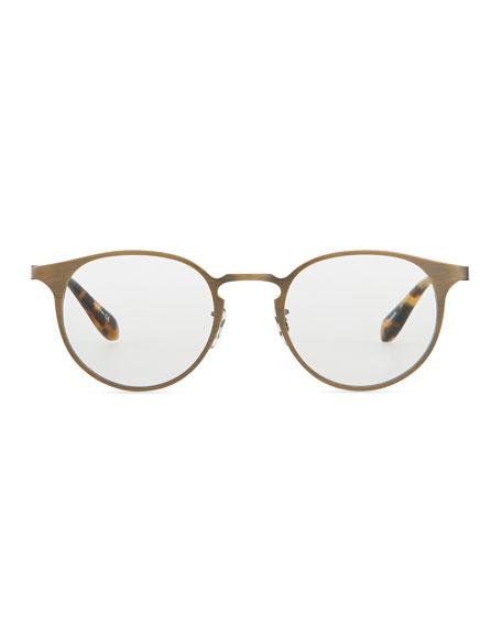 Wildman Round Fashion Glasses, Gold