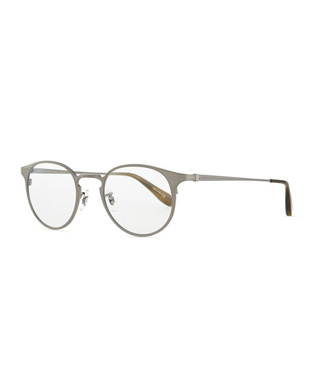 Oliver Peoples Wildman Round Fashion Glasses, Pewter