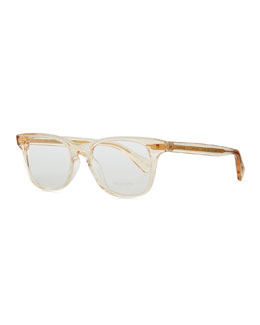 Oliver Peoples Ollie Rounded Clear Fashion Glasses, Yellow