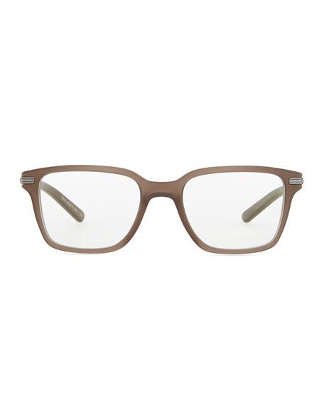 Stone Rectangle Fashion Glasses, Taupe