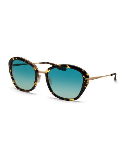 Barton Perreira Farrow Havana Butterfly Sunglasses