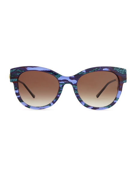 Angely Cat-Eye Sunglasses, Blue