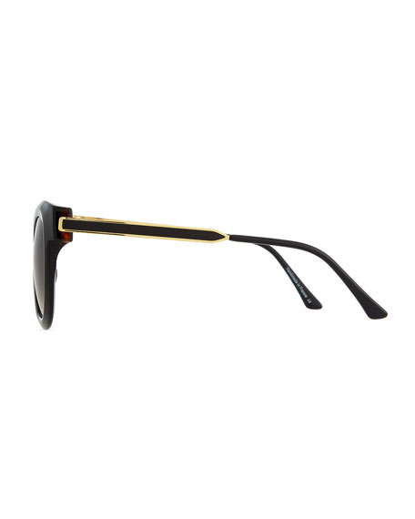 Sunglasses with Metal Arms, Black