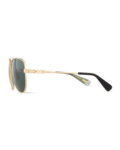 Metal Aviator Sunglasses, Gold