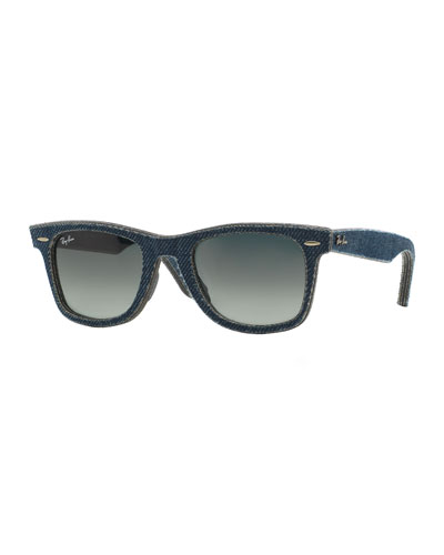 Blue Denim Wayfarer Sunglasses