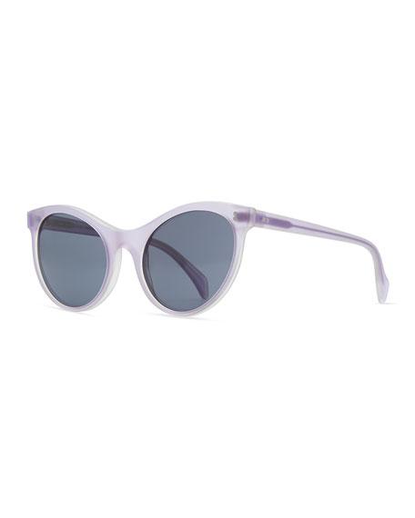 Claire Cat-Eye Sunglasses, Purple