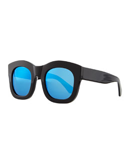Illesteva Hamilton Oversized Sunglasses, Black